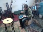 le colporteur en studio: tjark en action